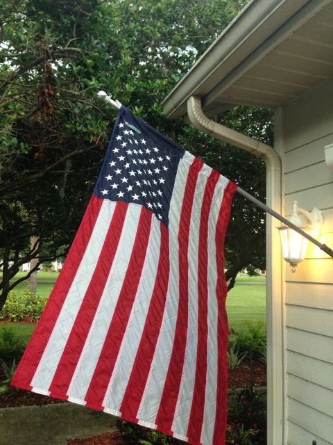 American flag hung from Orlando home