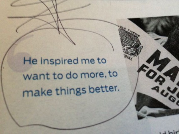 Inspiration quote about how Martin Luther King inspired a little girl