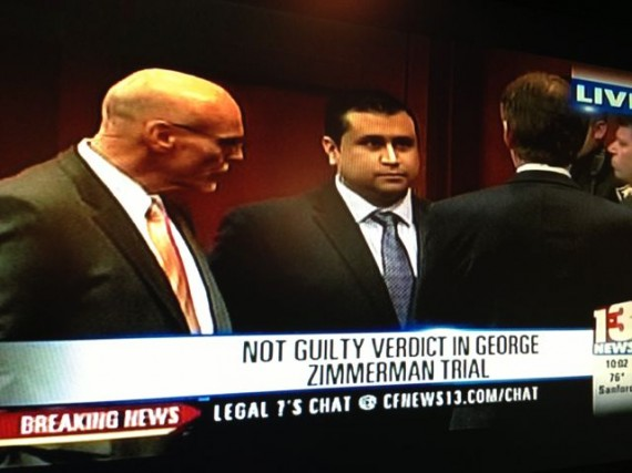 George Zimmerman photo moments after acquittal.