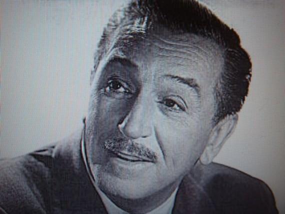 Walt Disney black and white portrait photo