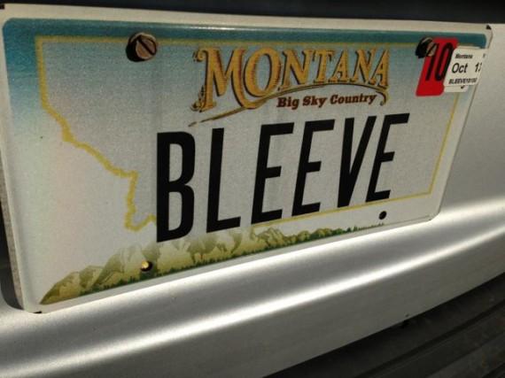 Unique Montana License plate