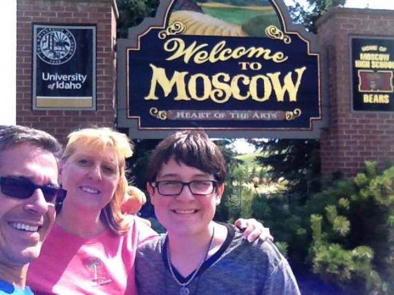 Welcome to Moscow, Idaho sign
