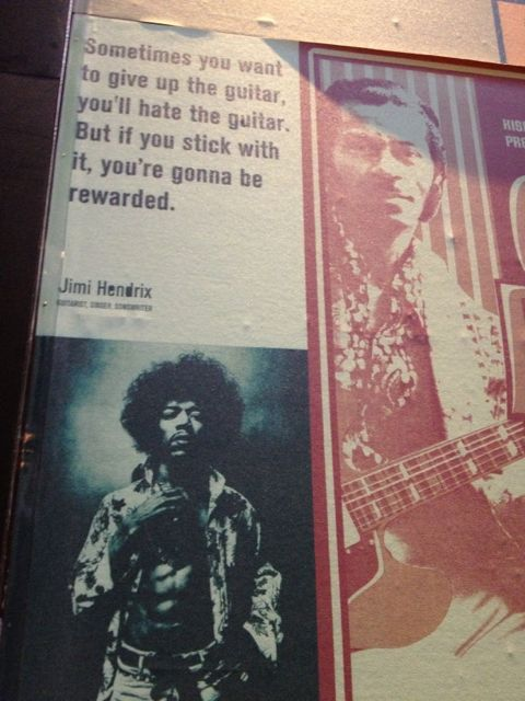 Jimi Hendrix quote on perseverance