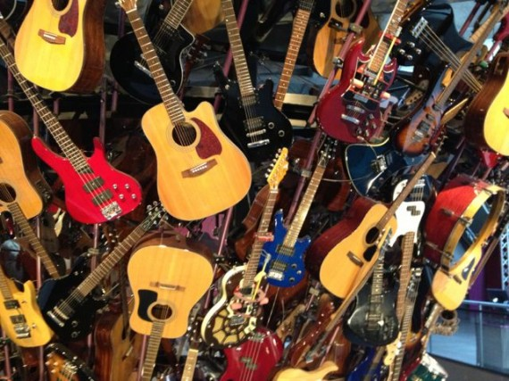 EMP Museum massive guitar art