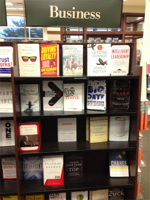barnes and Noble Business books display