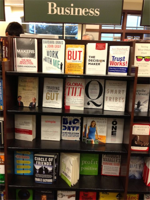 New business book for sale at Barnes and Noble