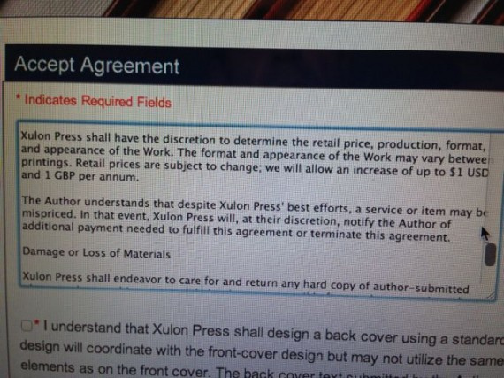 Xulon Press agreement