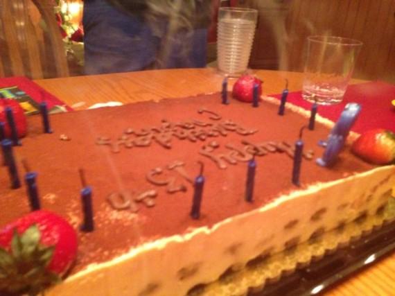 birthday cake smoke from candles