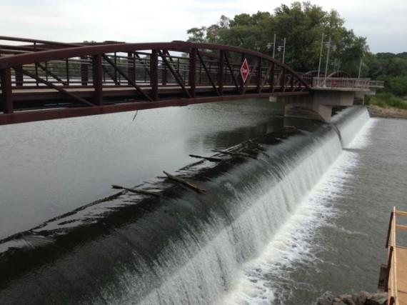 Iowa River dam in Iowa City