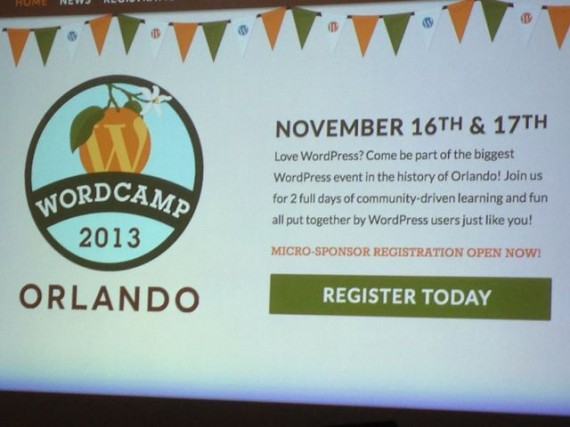 Orlando WordPress 2013 advertisement