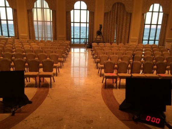 Ocean front meeting room at The Breakers