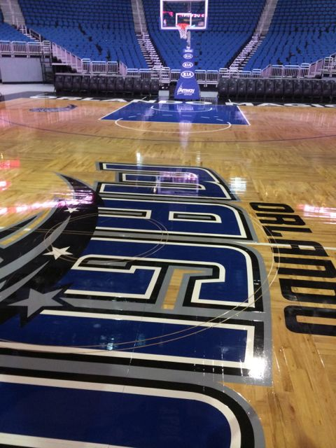 Orlando Magic Amway Center center court photo