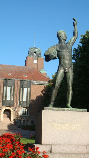 Finnish nude male statue