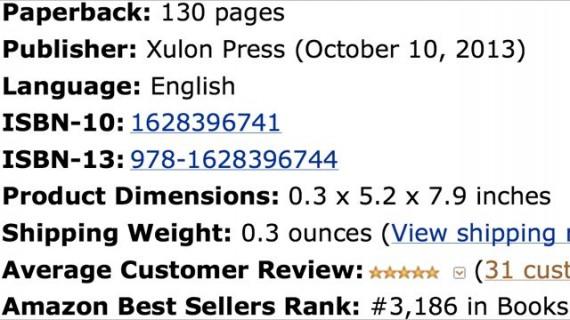 Amazon sales rank screen shot for Mid Life Celebration