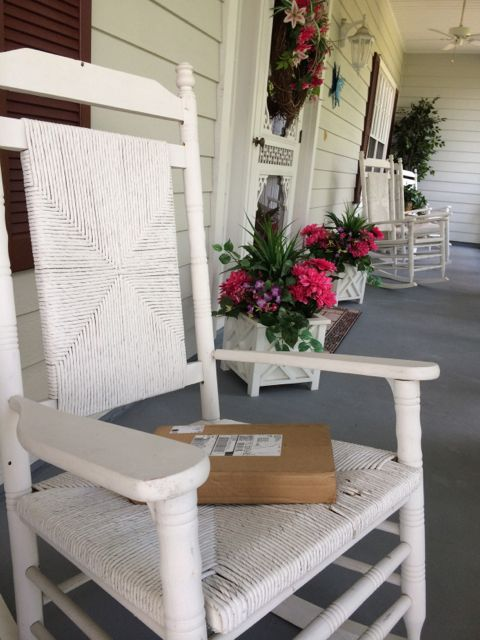 White rocking chair on Orlando front porch
