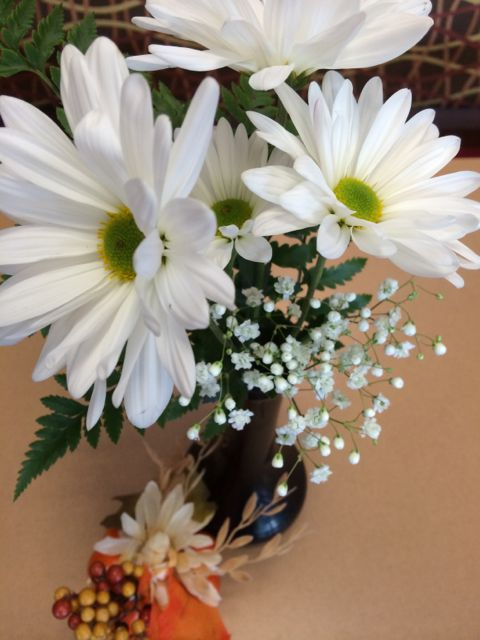 Daisies as center piece