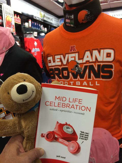 Mid Life Celebration book at Cleveland bookstore