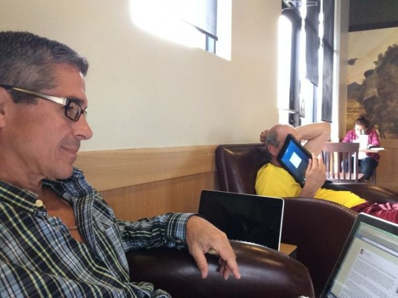 writer jeff noel at Starbucks Kissimmee, FL