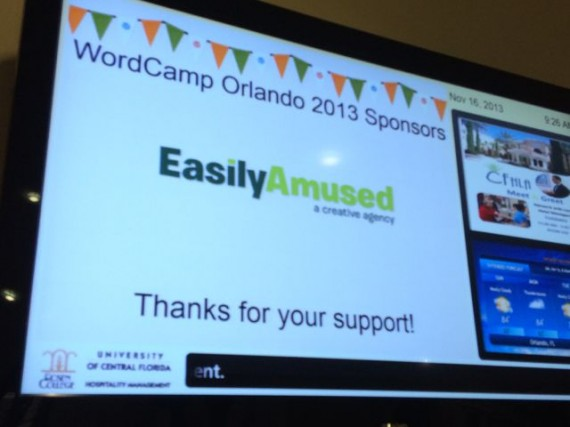 Easily Amused Wordcamp sponsor thank you