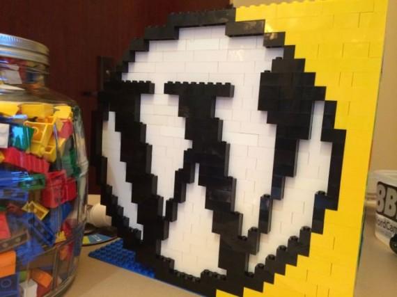 WordPress logo made from legos