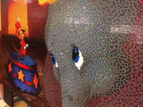 Dumbo scene created with Lego pieces