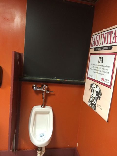 Typical men's bathroom in a typical American tavern