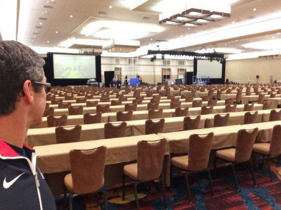 Giant meeting space for keynote speech