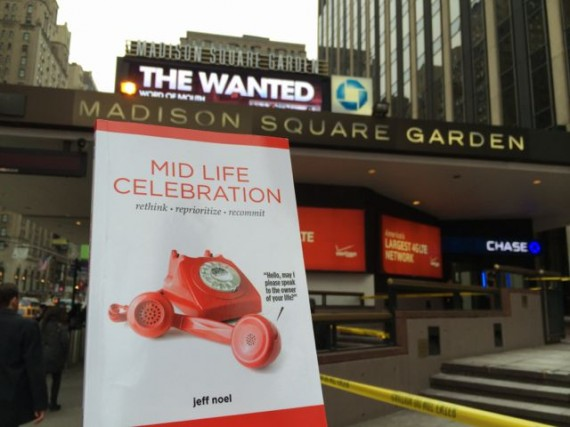 Mid Life Celebration the book at Madison Square Garden