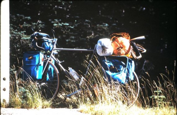 Touring bicycle with gear