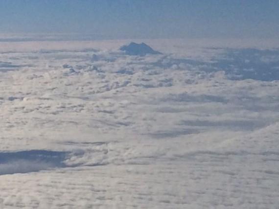 Washington State Mountain through the clouds