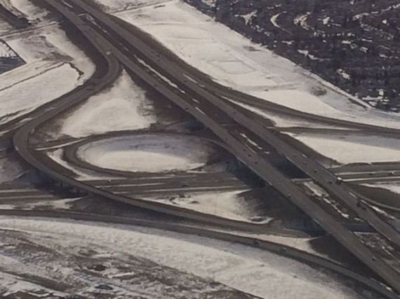 Canadian freeway in winter