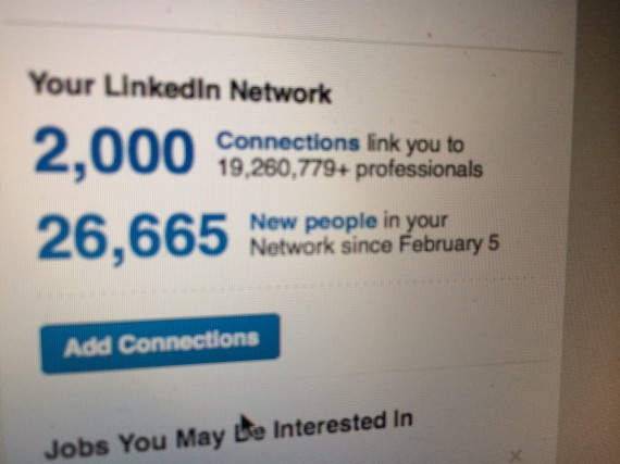 LinkedIn profile screen shot