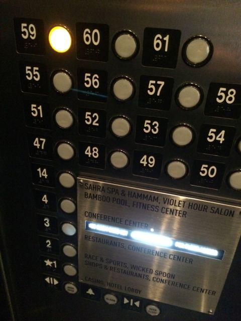 Las Vegas floor elevator chart
