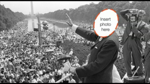 MLK photo at I have a dream speech
