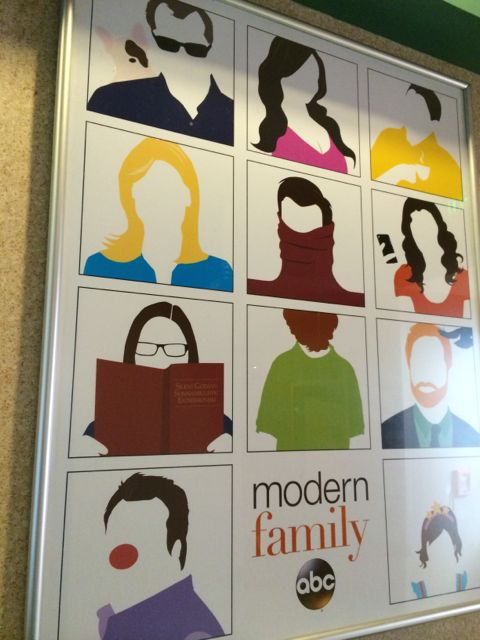 Modern Family poster at Disney's ABC Commissary
