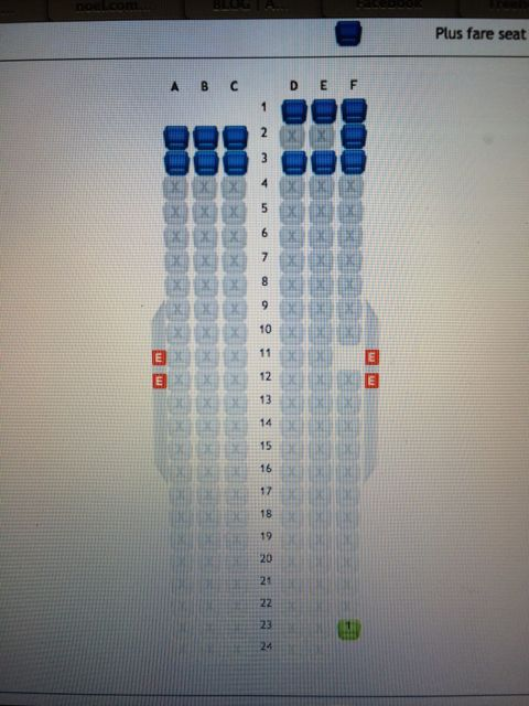 West Jet seating chart