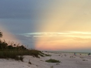 Sanibel Island sunset reverse view