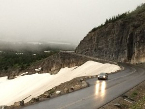 Going to the Sun Road in the fog