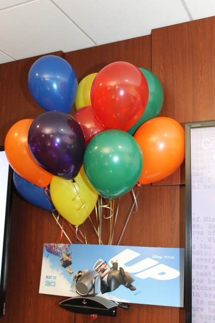 Balloons and Disney's UP movie poster