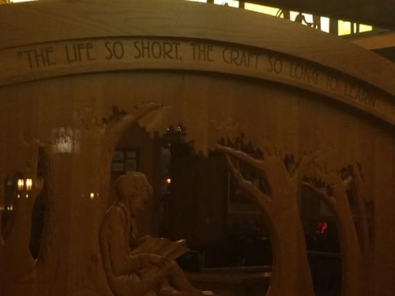 Storyteller's Cafe sign at Disney's Grand Californian Resort