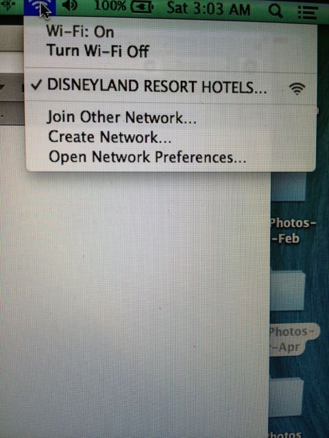 Disneyland Resort wifi