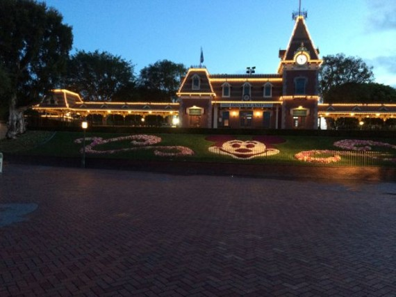 Disneyland at dawn in April