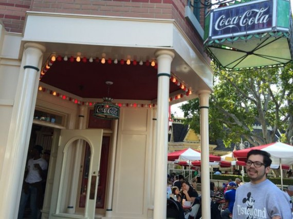 Disneyland's Coke Corner famous red and white light bulb