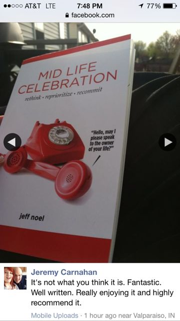 Midlife Celebration the book on Facebook