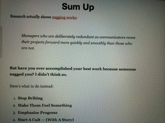 random screen shot from leadership blog