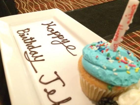 jeff noel's birthday cupcake in Iowa City