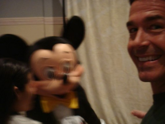Mickey Mouse and jeff noel at Disney Speaking Event