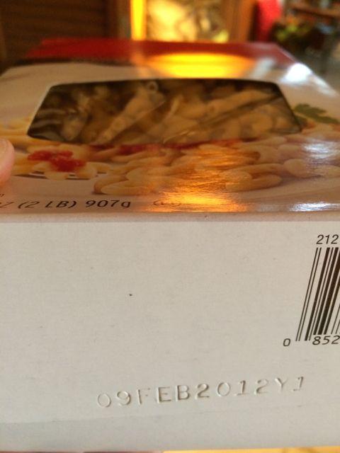 Expired food box