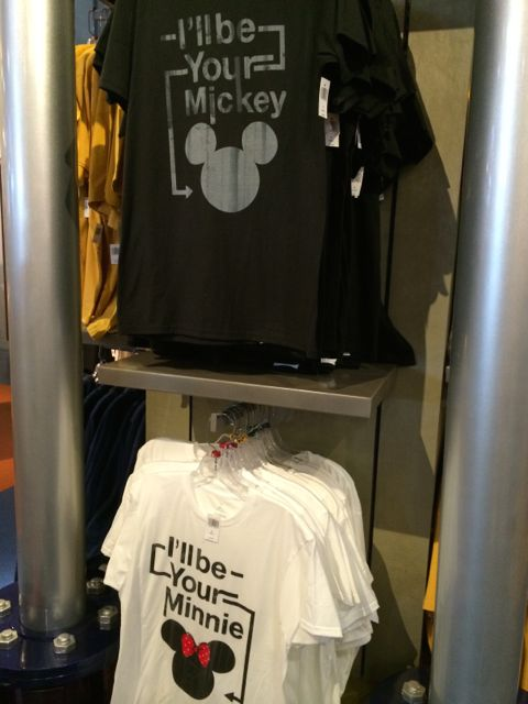 Mickey and Minnie tee-shirts