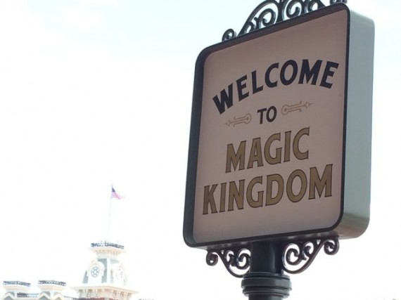 Magic Kingdom welcome sign